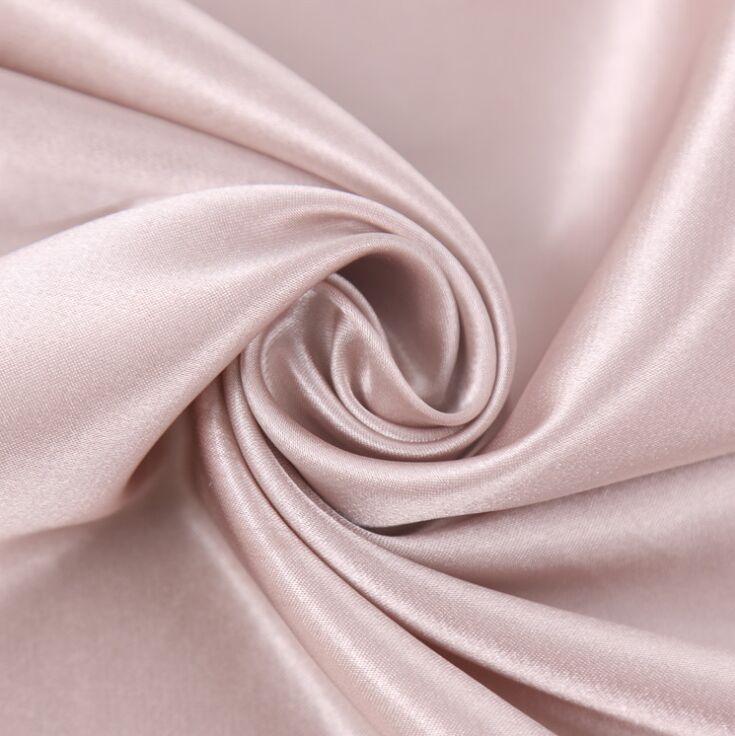 Polyester 50D Spandex Stretch Satin Fabric