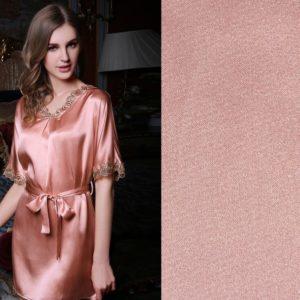Polyester Silk-like Stretch Satin Fabric for Pajamas