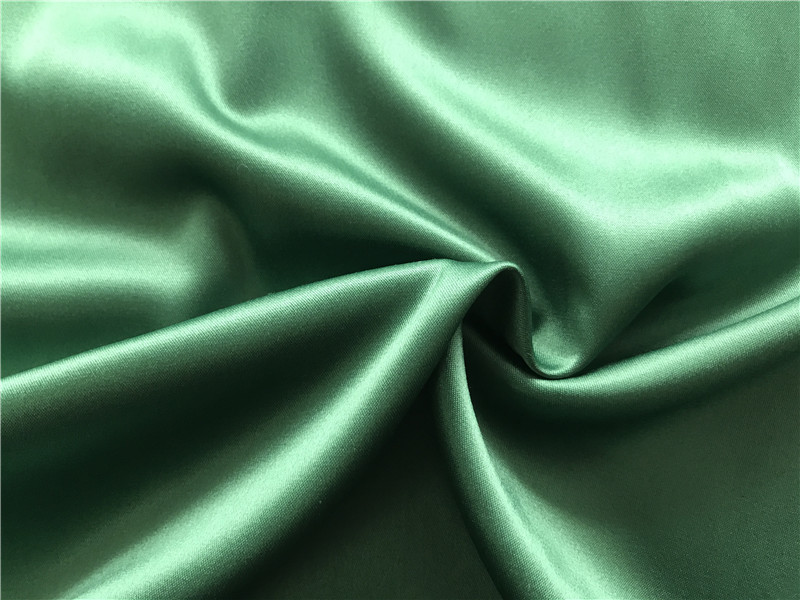 Polyester Spandex Stretch Dull Satin Fabric 215 gsm